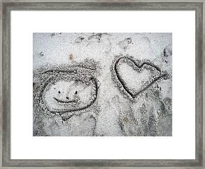 Artwork In The Sand Framed Print by Jim Rabenstine