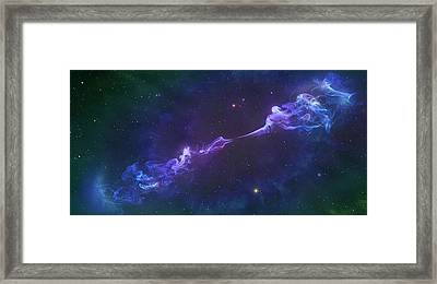 Artwork Of A Herbig-haro Object Framed Print by Mark Garlick