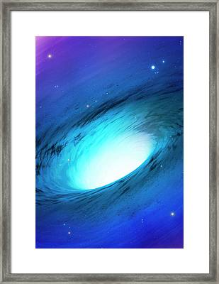 Artwork Of A White Hole Framed Print by Mark Garlick