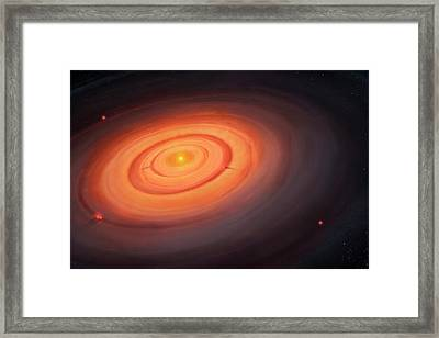 Artwork Of The Solar Nebula Framed Print by Mark Garlick