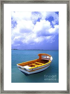 Aruba. Fishing Boat Framed Print by Anonymous