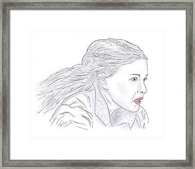 Arwen Riding Framed Print by Steven White