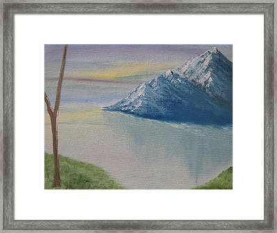 As Big As The Mountain Framed Print by Sayali Mahajan