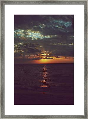 As Day Turns Into Night Framed Print by Laurie Search
