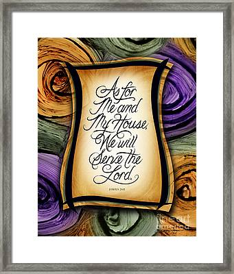 As For Me And My House Framed Print by Shevon Johnson