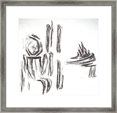 As If By Sea Framed Print by Kryztina Spence