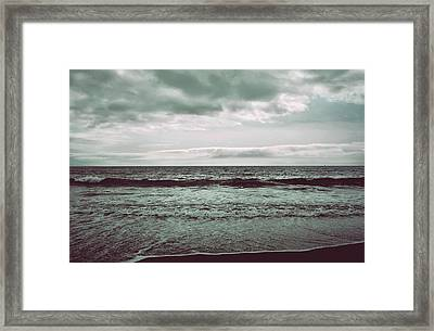 As My Heart Is Being Crushed Framed Print by Laurie Search