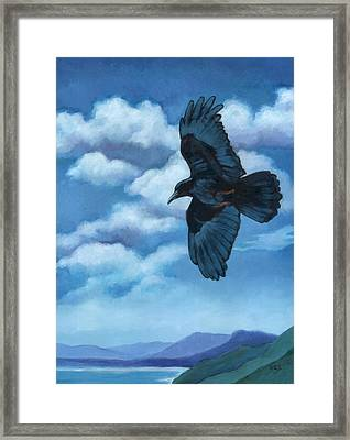 As The Crow Flies... Framed Print by Rebecca Ives