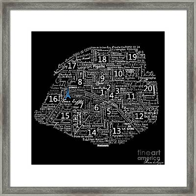 As The French Say... Map Framed Print by Marion De Lauzun