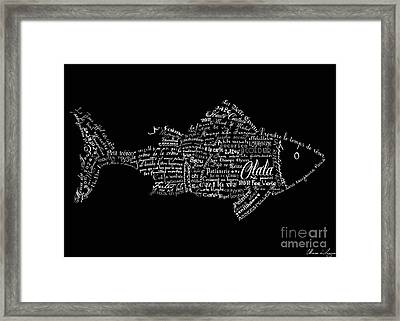 As The French Say... Poisson Framed Print by Marion De Lauzun
