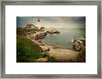 As The House Looks Over Framed Print by Karol Livote