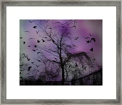 As The Night Turned Framed Print by Gothicolors Donna Snyder