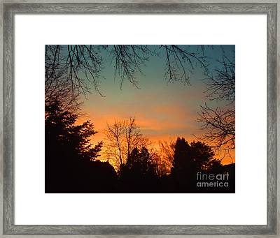 As The Sun Goes Down Framed Print by Ann Johndro-Collins