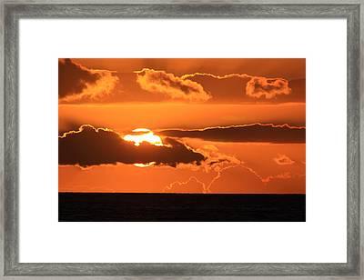 As The Sun Goes Down Framed Print by Richard Cheski