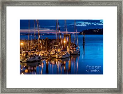 As The Sun Sets - By Sabine Edrissi Framed Print by Sabine Edrissi
