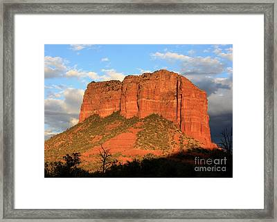 As The Sun Sets In Sedona Framed Print by Carol Groenen