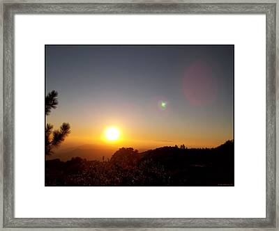 As The Sun Sets In The West Framed Print by Glenn McCarthy Art and Photography