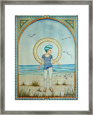As The Wind Blows Framed Print by Lucy Stephens