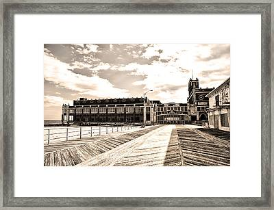 Asbury Park Boardwalk And Convention Center Framed Print by Bill Cannon