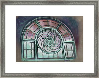 Asbury Park Carousel Window Framed Print by Melinda Saminski