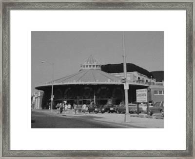 Asbury Park Nj Carousel Bw Framed Print by Joann Renner