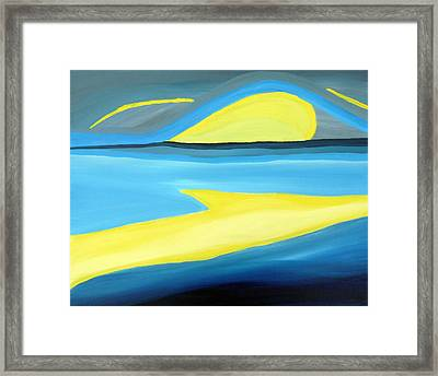 Ascending Light Into The New Dawn Of Time Framed Print by Daina White