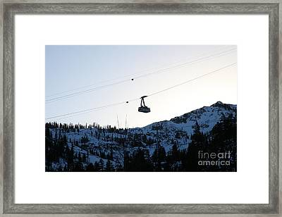 Ascending The Peak At Squaw Valley Usa 5d27723 Framed Print by Wingsdomain Art and Photography