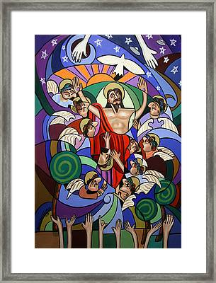 Ascending To The Father  Framed Print by Anthony Falbo