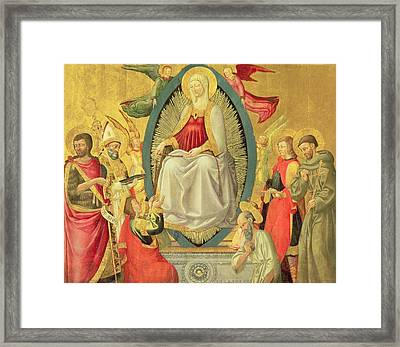 Ascension Of The Virgin, 1465 Framed Print by Neri di Bicci