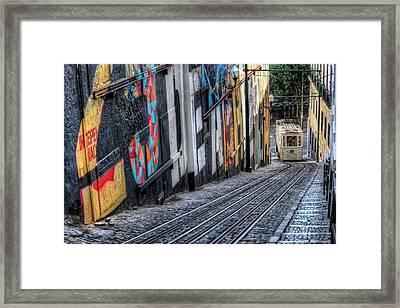 Ascensor Do Lavra Lisbon Framed Print by Carol Japp