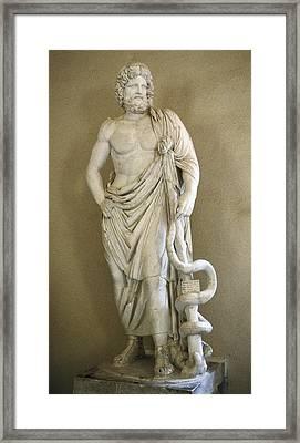 Asclepius. 4th C. Bc. Classical Greek Framed Print by Everett
