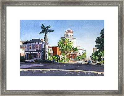 Ash And Second Avenue In San Diego Framed Print by Mary Helmreich