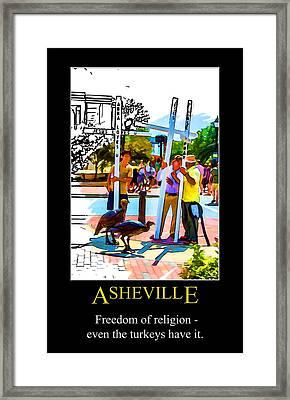 Asheville Freedom Poster Framed Print by John Haldane