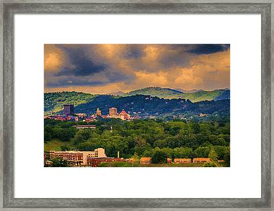 Asheville North Carolina Framed Print by John Haldane