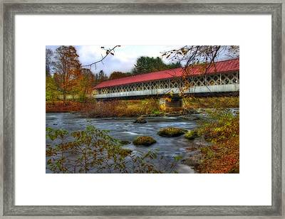 Ashuelot Covered Bridge 2 Framed Print by Joann Vitali