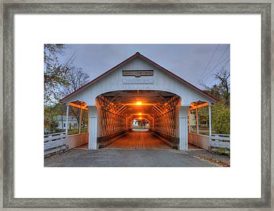 Ashuelot Covered Bridge Framed Print by Joann Vitali