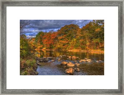 Ashuelot River In Autumn - New Hampshire Framed Print by Joann Vitali