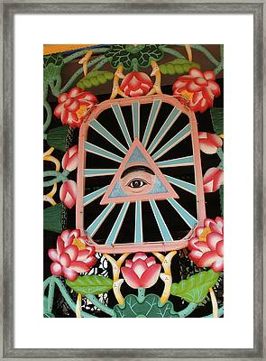 Asia, Vietnam Cao Dais Left Eye, Tay Framed Print by Kevin Oke