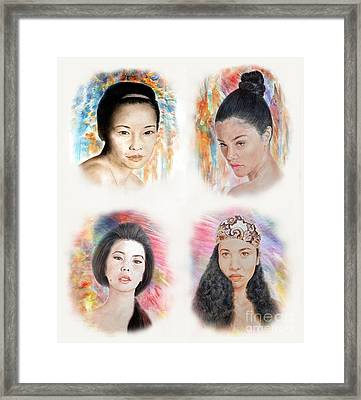 Asian Beauties  Framed Print by Jim Fitzpatrick
