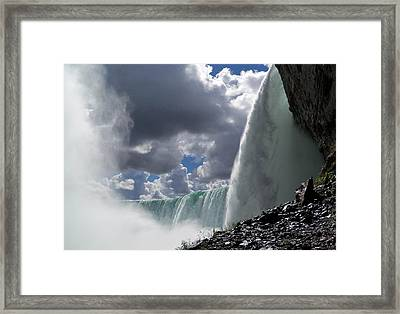 Aside Horseshoe Falls Framed Print by Katie Beougher