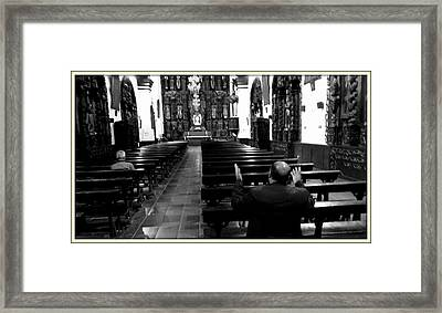 Asking God For Help Framed Print by Daniel Gomez