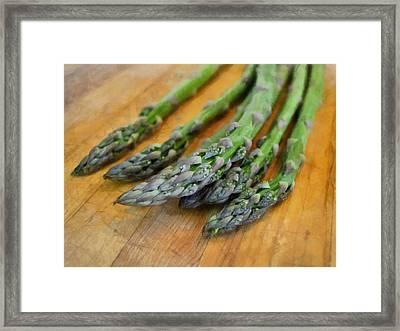 Asparagus Framed Print by Michelle Calkins