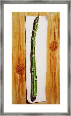 Asparagus Tasty Botanical Study Framed Print by Irina Sztukowski