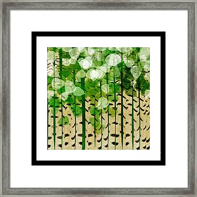 Aspen Colorado Abstract Square 2 Framed Print by Andee Design