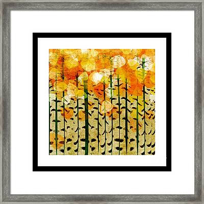 Aspen Colorado Abstract Square 4 Framed Print by Andee Design