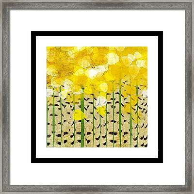 Aspen Colorado Abstract Square Framed Print by Andee Design