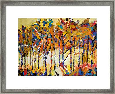 Aspen Trees Framed Print by Ron and Metro