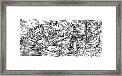 Aspidochelone, Legendary Sea Monster Framed Print by Photo Researchers
