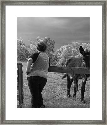 Ass Framed Print by Mary Ely