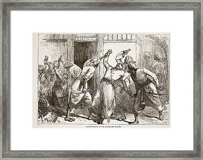 Assassination Of Sir Alexander Burnes Framed Print by English School